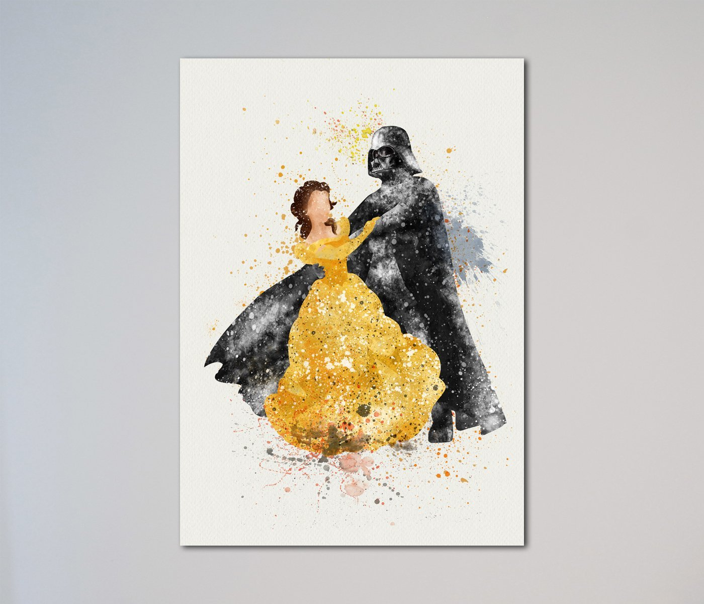 Star Wars gifts for her Darth Vader and Belle Beauty and the Beast Print
