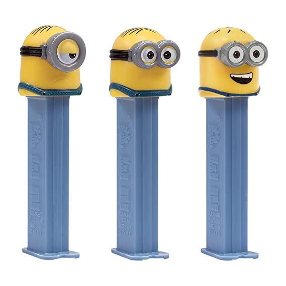 PEZ set de dispensadores Minions edición de verano (4 dispensadores con 3 recargas de caramelos PEZ de 8,5g c/u - 1 dispensador PEZ 2 veces como sorpresa) + ...
