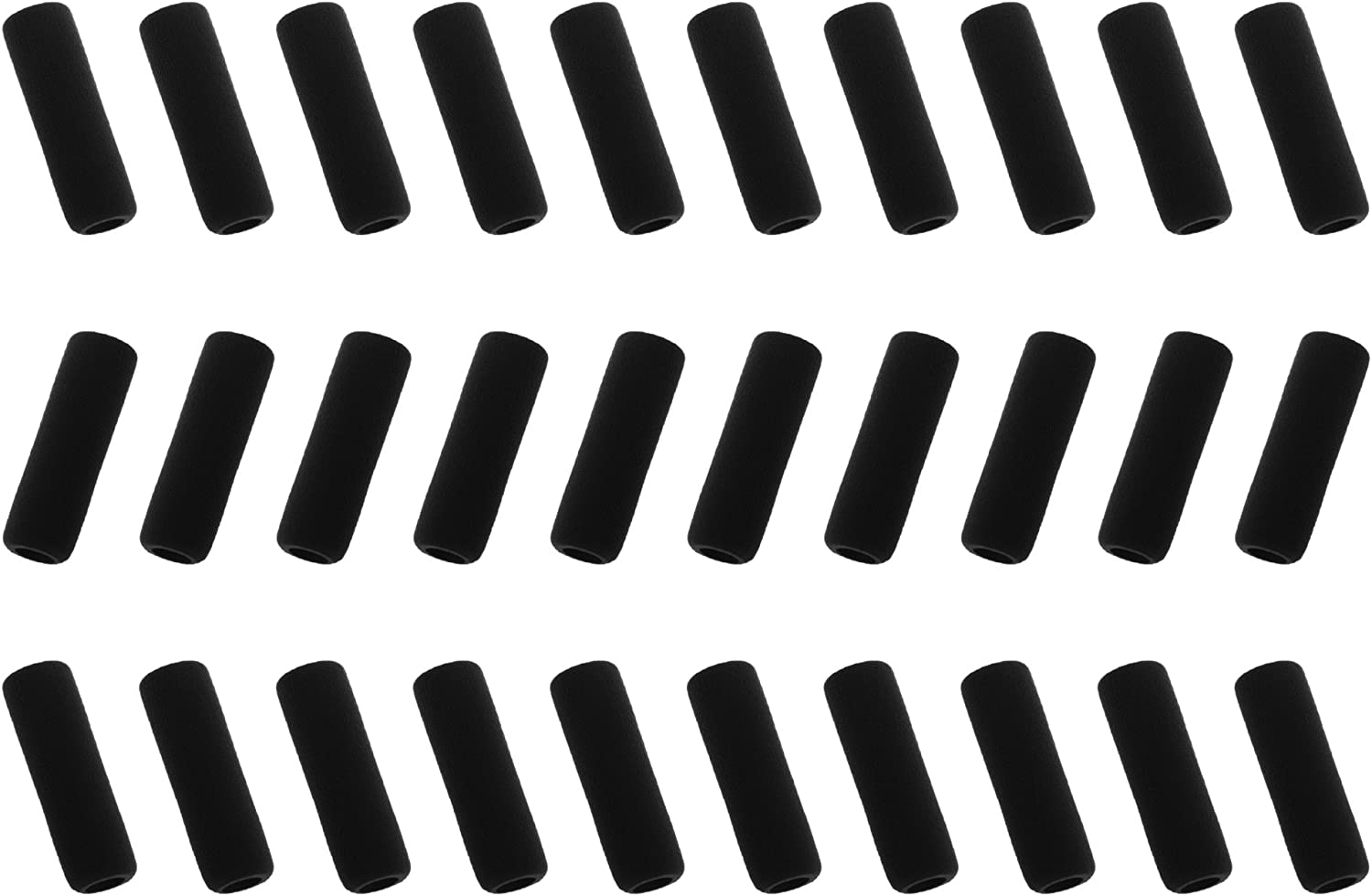 BCP pack of 30 Black Color soft foam 1.5-inch Pencil Grips Pencil Cover (Black)