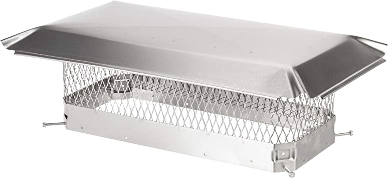 The Forever Cap CCSS1328 13 x 28-Inch Stainless Steel Double Flue Chimney Cap