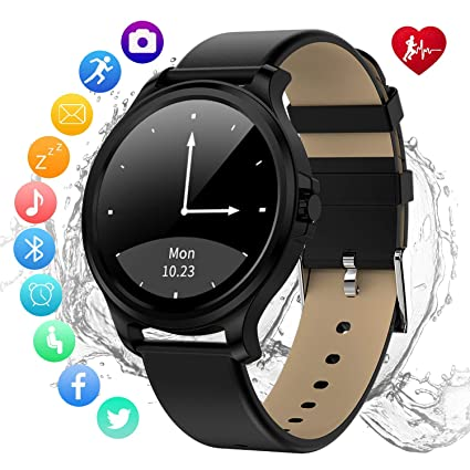 Smartwatch-Fitness with All Day Heart Rate Monitor,IP67 Waterproof,Sleep Monitoring, GPS,Bluetooth Control Phone Camera NFC,and Smartphone ...
