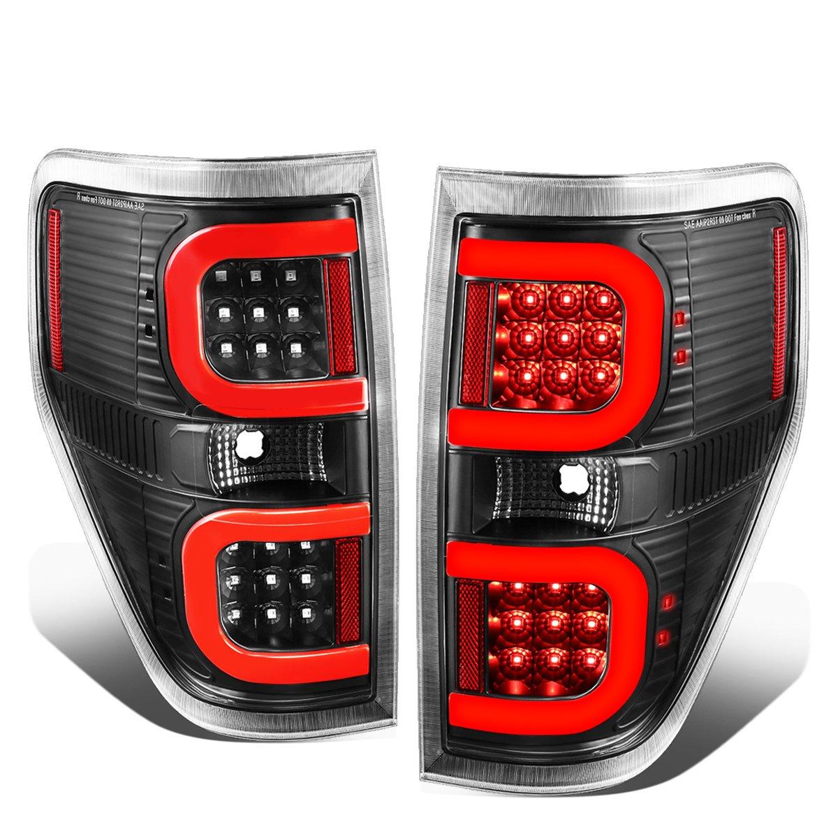 09-14 Ford F150 DNA Motoring TL-F15009-LED-RD3D-BK-CL Dual RED LED C-Bar Tail Light Black//Clear