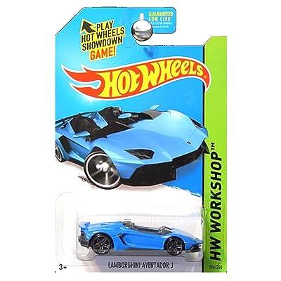 Hot Wheels 2014 HW Workshop All Stars Lamborghini Aventador J in Blue: Toys & Games