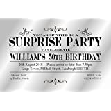 the save the date people 30 surprise party invitations personalised
