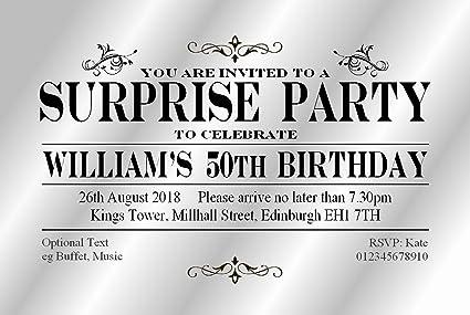 50 Invitaciones De Fiesta Sorpresa Surprise Party