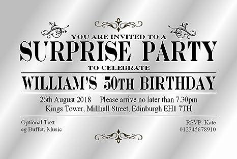 50 Surprise Party Inviti Personalizzati Per Lei Vipl Inviti Di