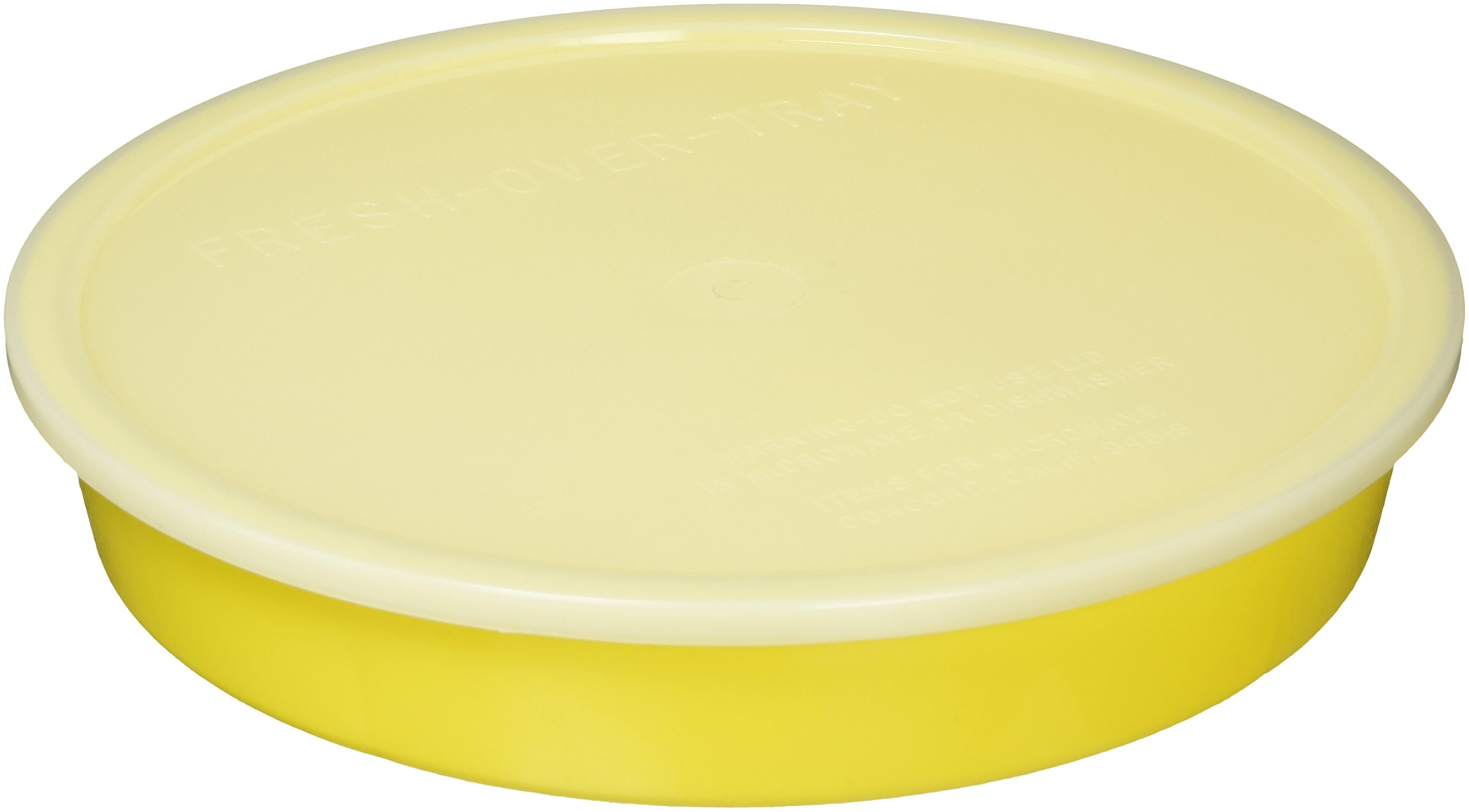 Sammons Preston High-Sided Divided Dish, Yellow, Break-Resistant & Lightweight Polypropylene Plastic, 10'' Diameter, 1.75'' High Vertical Sides & 7/8'' Section Dividers, Includes Lid for Travel & Storage