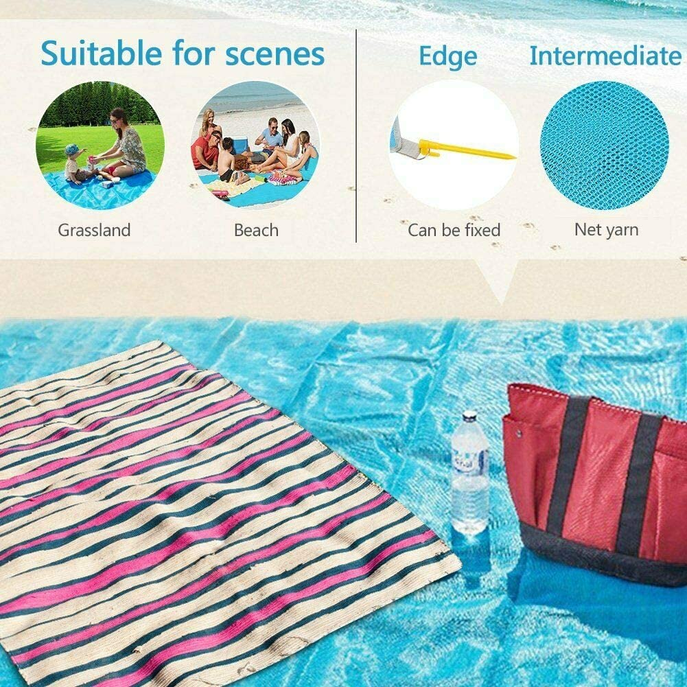 Blau 1.5x2m Kreative Sand Proof Beach Blanket Wasserdichtes /& Fast Dry sandlose Matte f/ür Picknick am Strand Camping und andere Outdoor-Aktivit/äten VJK Sand Free Stranddecke