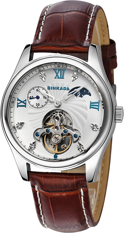 BINKADA Best Affordable自動機械ホワイトダイヤルメンズ腕時計# 800202 – 1 B014VP101M