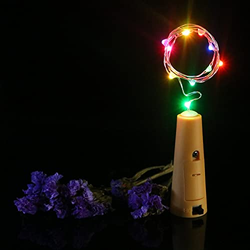 Horeset 6pcs Wine Bottle Wire Lights Starry Light Battery Strip Light D cor Rope Lamp-Battery Powered for Christmas Wedding Party Halloween Decoration Mutil