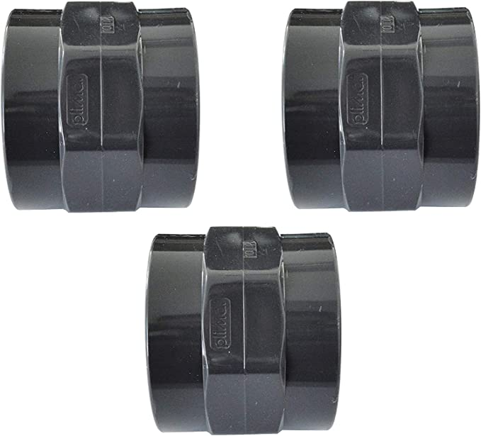 Manguito roscado de PVC con conector adhesivo x rosca interior well2wellness 2 unidades 63 mm x 2 200166