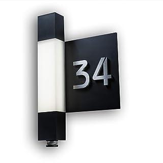 Schwimmendes Aussehen HASWARE Moderne Hausnummer Ziffer //) Einfache Installation
