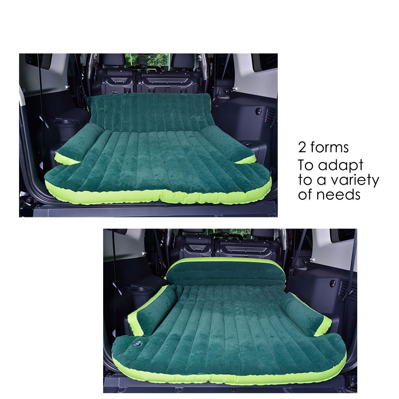 Heavy Duty Inflatable Car Mattress Bed For Suv Minivan Lincoln Town Sleep Back Seat Extended Sports Outdoors
