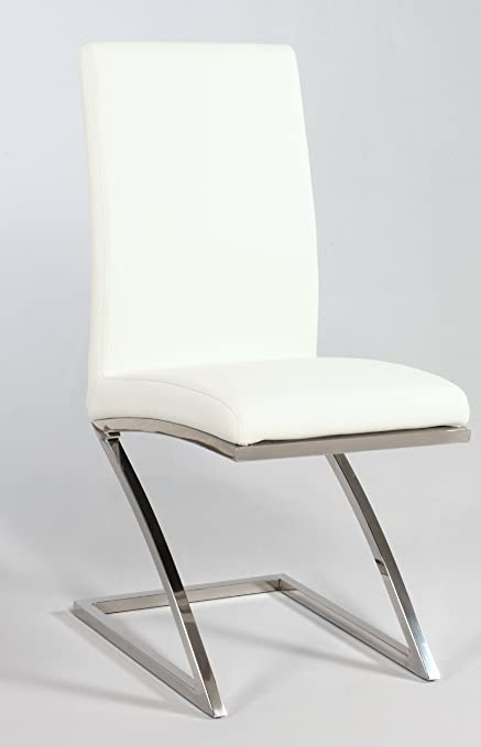 White U0026quot;Zu0026quot; Frame Contemporary Side Chair ...