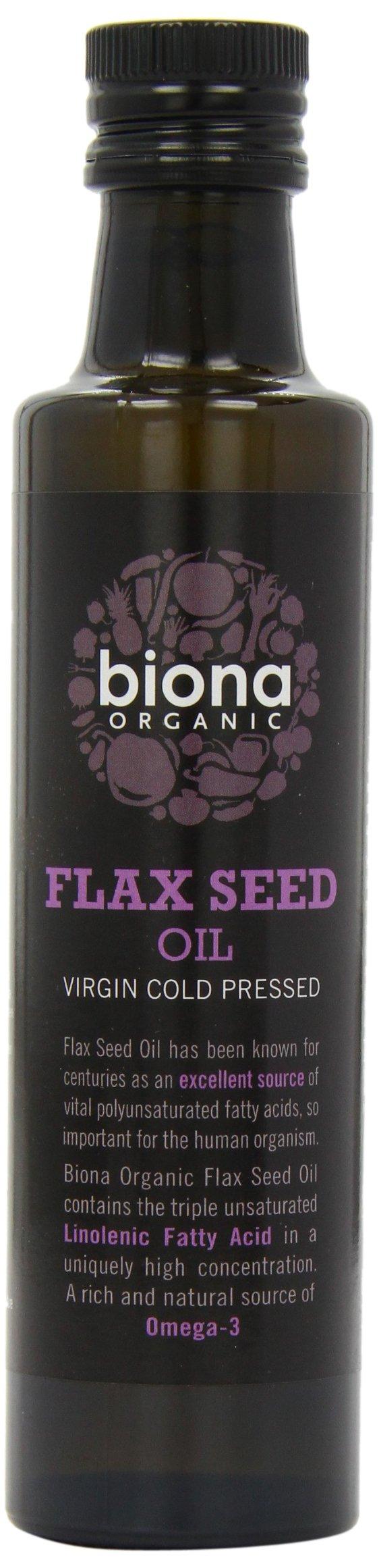 Biona Organic Cold Pressed Flax Oil (250ml) - Pack of 2 by Biona Organic