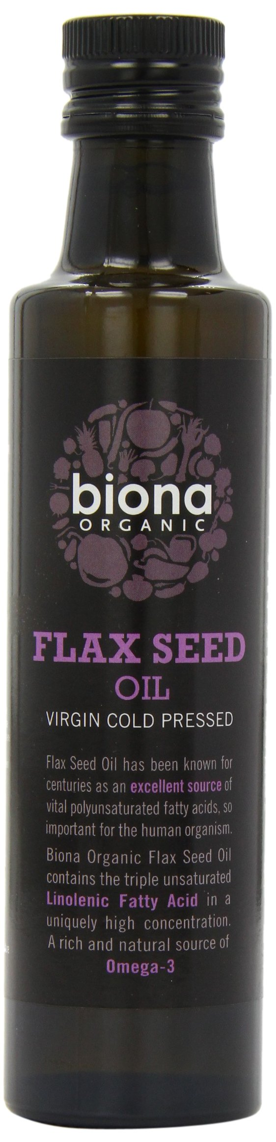 Biona Organic Cold Pressed Flax Oil (250ml) - Pack of 2