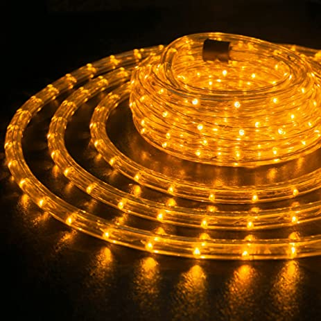 Amazon wyzworks 100 feet 12 thick amber orange pre assembled wyzworks 100 feet 12quot thick amber orange pre assembled led rope lights aloadofball Gallery