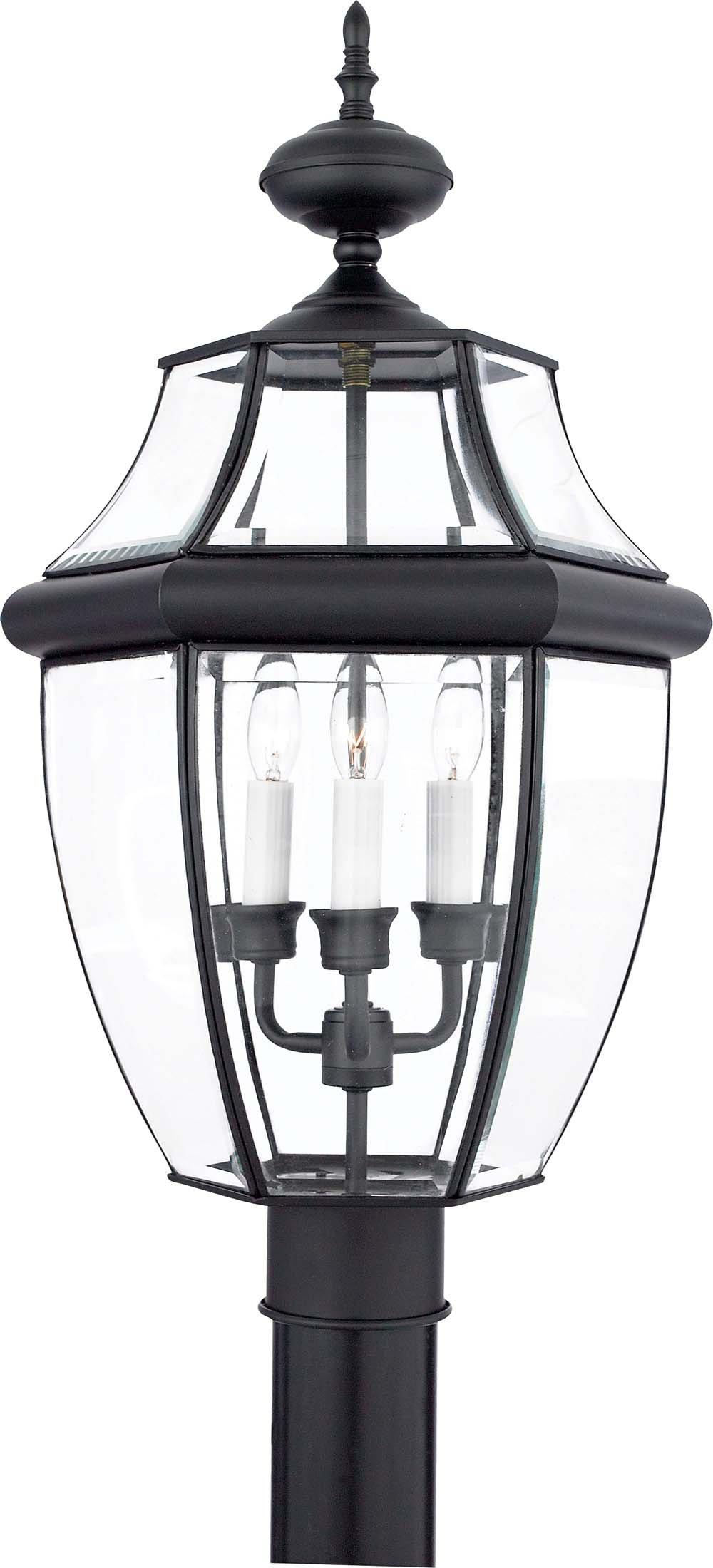 Quoizel NY9043K 3-Light Newbury Outdoor Lantern in Mystic Black by Quoizel