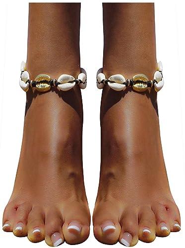 6058f3c6d Bienvenu Handmade Ankle Bracelet Summer Beach Shell Conch Bohemian Party  Wedding Jewelry for Women Girls