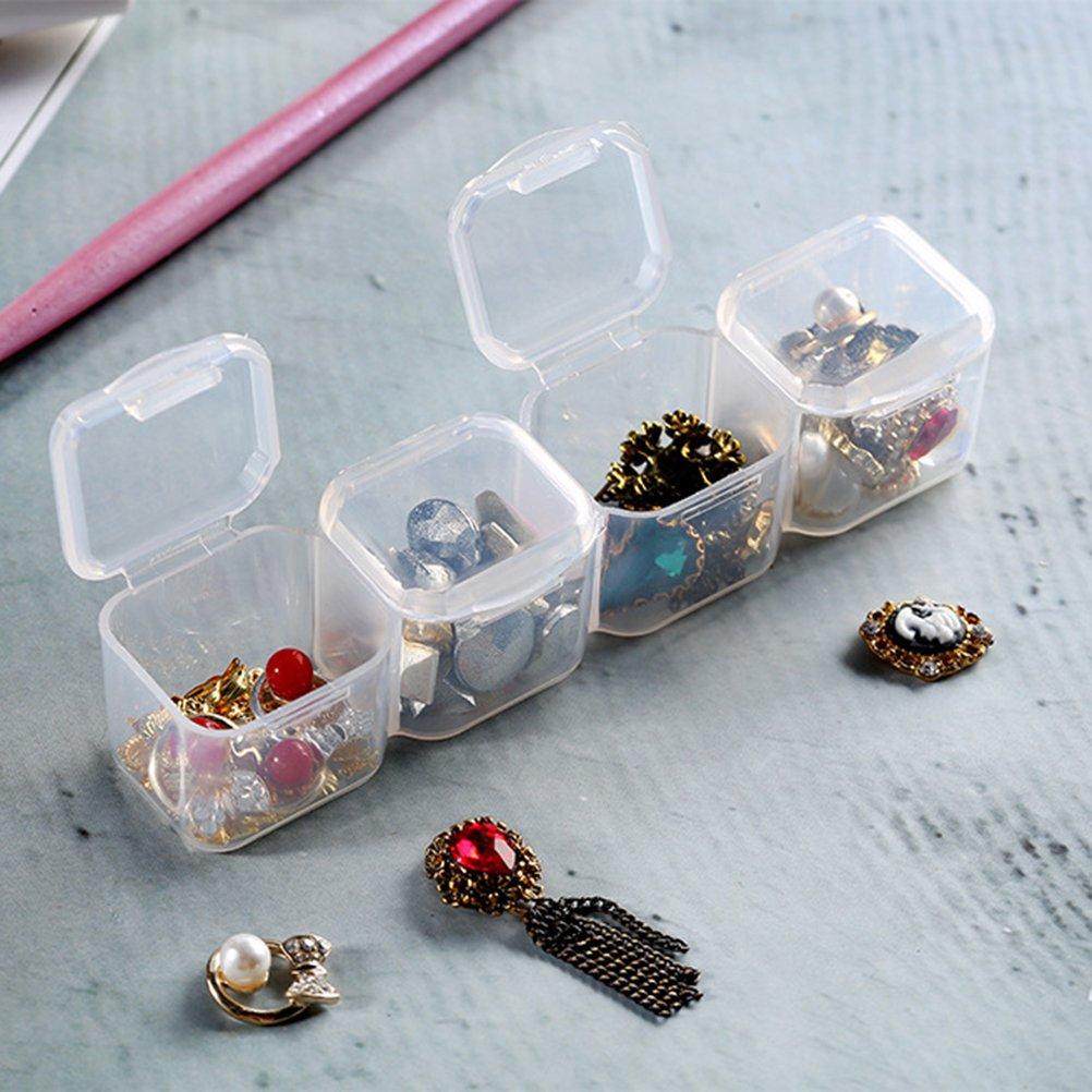 ROSENICE Contenitore per gioielli Contenitore per oggetti con divisori removibili 28 Griglie