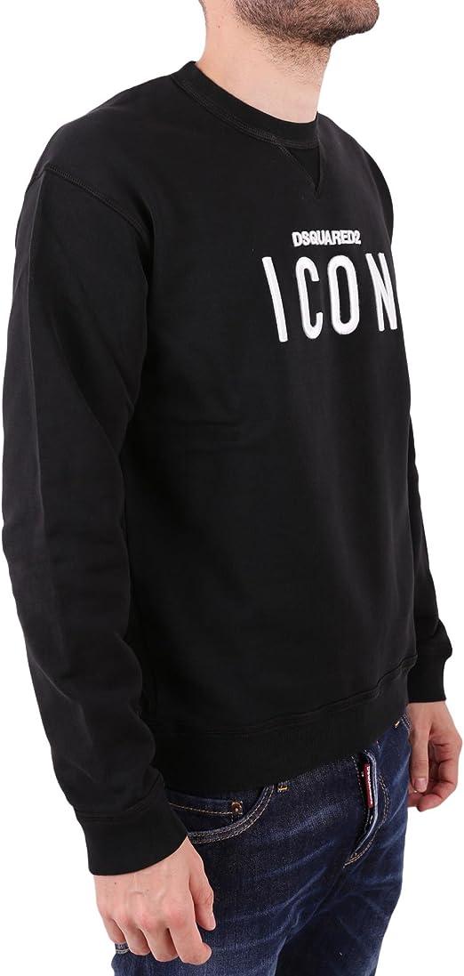 DSquared 2 Herren Sweatshirt, Mens Icon Sweatshirt Schwarz S74GU0220
