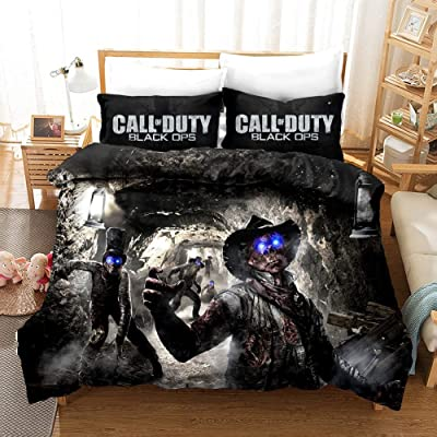Fvfvfv Popular Game Themes:Call of Duty (COD),3D Bed 3 Piece Set (Including: 1 Bed Cover 2 Pillowcase),Passion, Passion, Burst Them,100% Polyester, 3D Printing Technology (Size : US Twin(172218CM)): Home & Kitchen