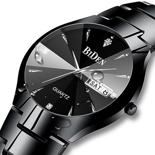 Relojes para hombre, color negro, militar, digital, resistente al agua, reloj