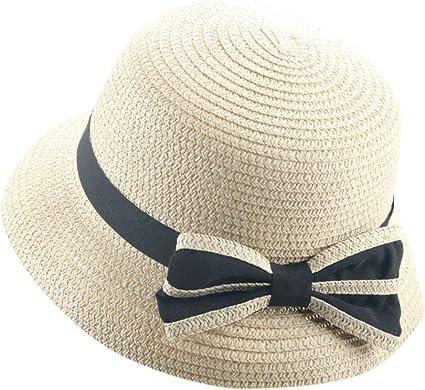 Girl Kids Summer Straw Hat Wide Brim Floppy Beach Sun Protection Hat