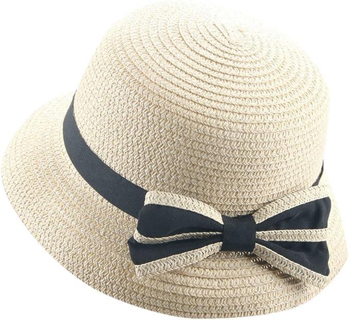 pingtr Sombrero del bebé niña y niño, Sombrero de Paja el Verano ...