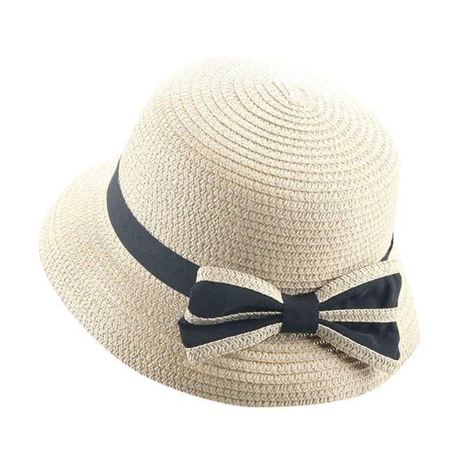 Topgrowth Cappello di Paglia Bimba Cappello Pesca Cappello di Paglia  Cappello da Sole Spiaggia Vacanza Festa Cappellino Elegante  Amazon.it   Abbigliamento a0fa6f0a110d