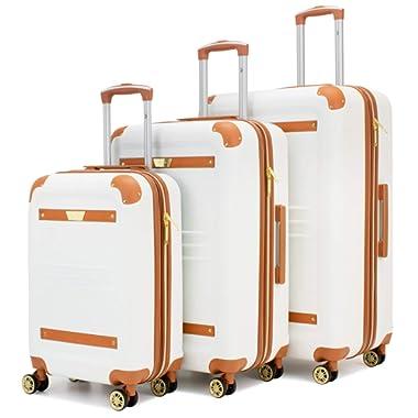 19V69 Italia Vintage 3 Piece Expandable Hard Spinner Luggage Set