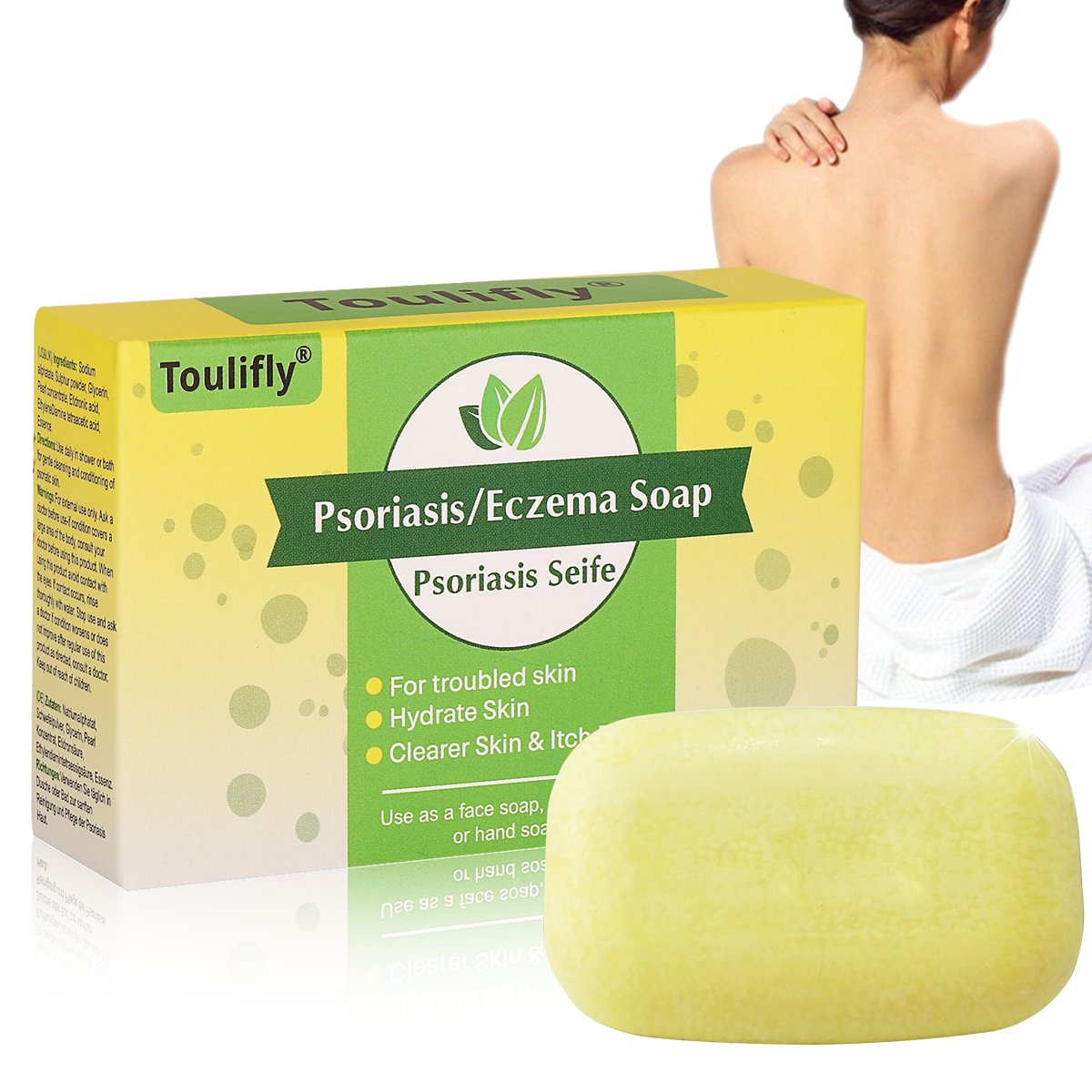 Psoriasis Eczema Soap, for Eczema and Psoriasis Support, Natural Formula Provides Instant and Lasting Relief for Severely Dry, Cracked, Itchy, or Irritated Skin