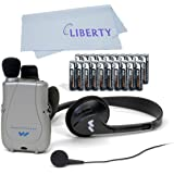 Williams Sound PockeTalker Ultra Duo Sound Amplifier with Headphone & Earbud, Year Supply of Batteries & Liberty Microfiber Cloth