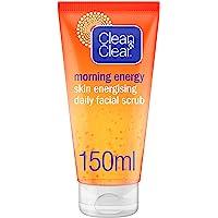 CLEAN & CLEAR, Daily Facial Scrub, Morning Energy, Skin Energising, 150ml