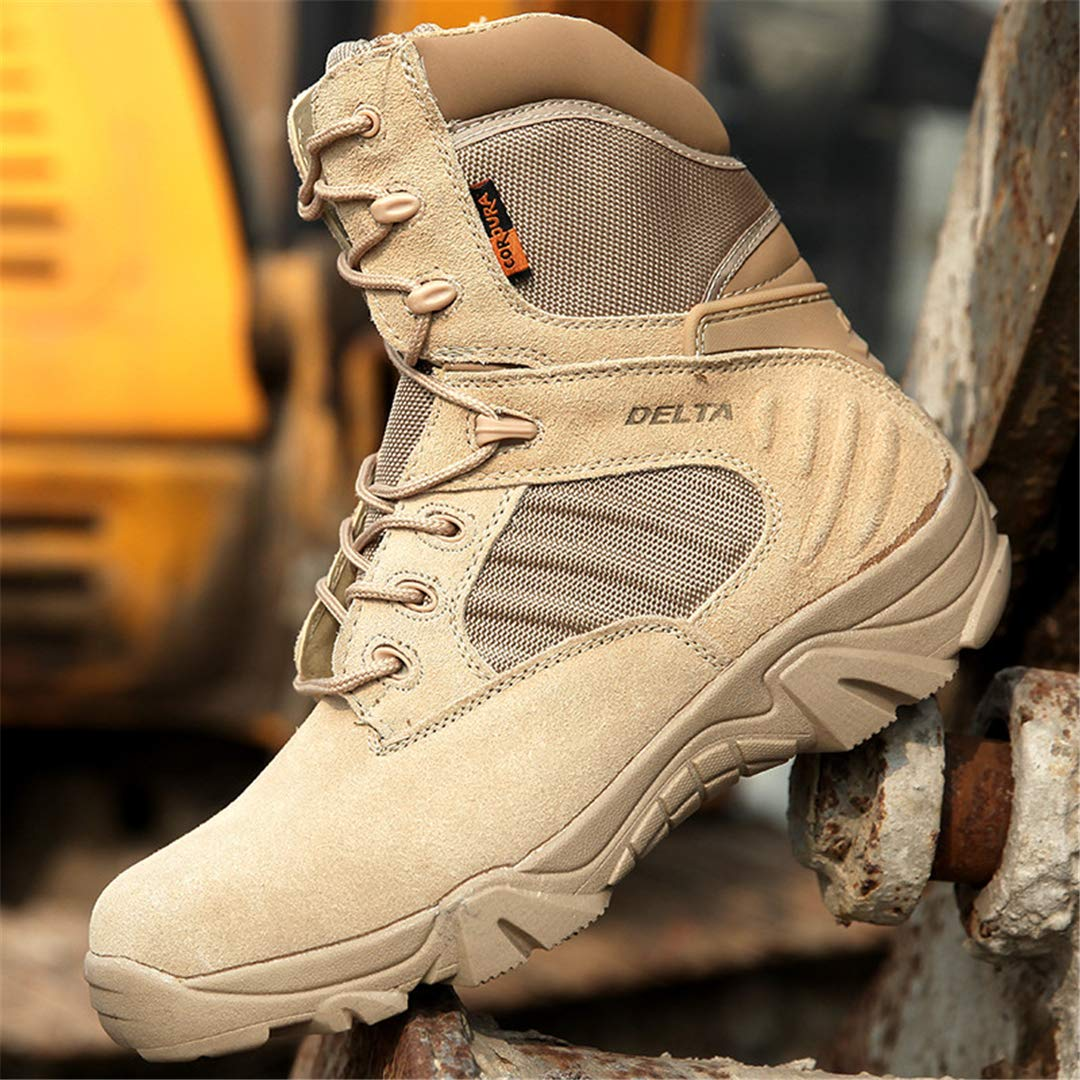 0bab960eb70d6 Amazon.com : DengSha Outdoor Mens Hiking Boots Tactical Boots Men ...