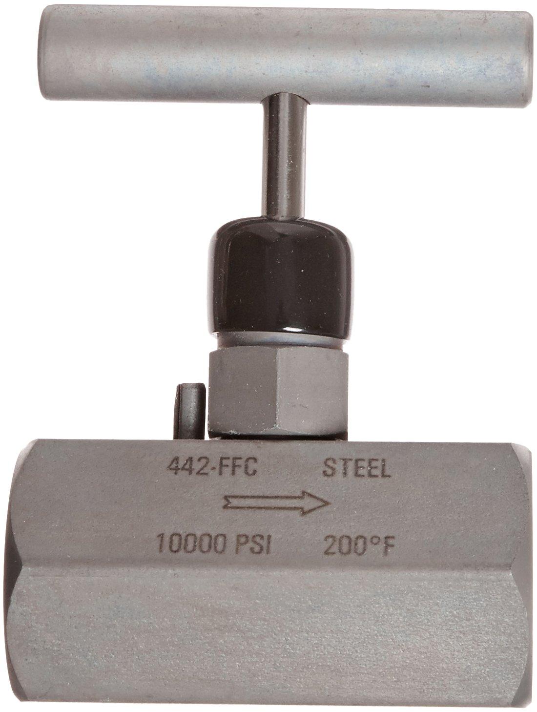 10000 psi Pressure Range NOSHOK 400 Series 316 Stainless Steel Hard Seat Needle Valve 1//2 NPT Female Angle