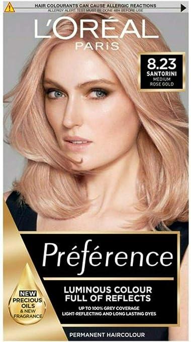 L Oreal INFINIA preferencia 8.23 brillante oro rosa: Amazon ...