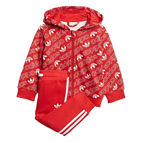 Survêtement Baby Adidas Trefoil Monogram Hooded  Amazon.it  Sport e tempo  libero 7c99be47acb5