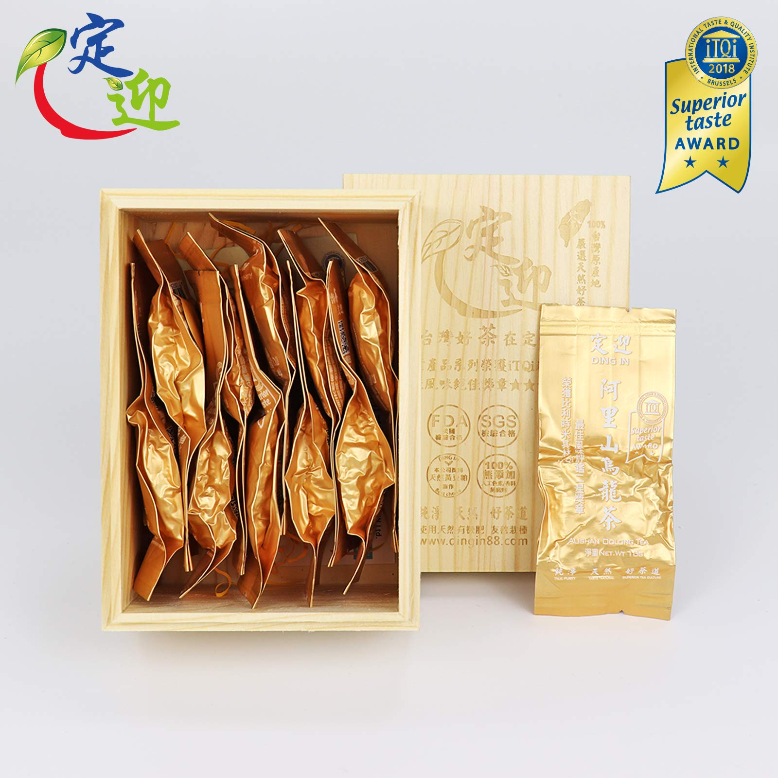 DING IN Alishan Oolong Tea Pine Box 10g10/box by Ding In ltd. (Image #1)