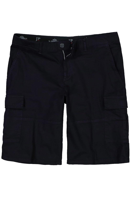 e94cb905cba856 Navy JP 1880 Herren große Größen bis 70, Cargo-Bermuda, mit elastischem  Bund, 6-Pocket-Schnitt, Stretch 705858 Hose Kurze nqnfrs807-Shorts
