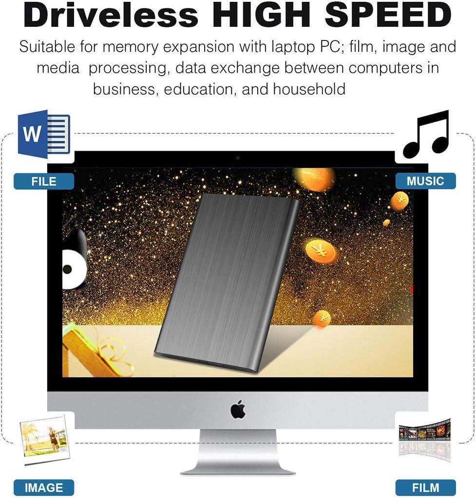 Apple,Xbox One et PS4 1to, Bleu Wsgoo Disque Dur Externe USB 3.0 Disque Dur Externe pour Mac,PC,Windows