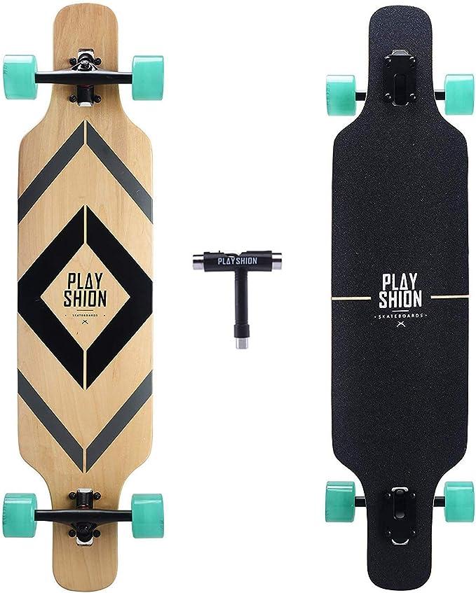 Playshion Drop Through Freestyle Longboard