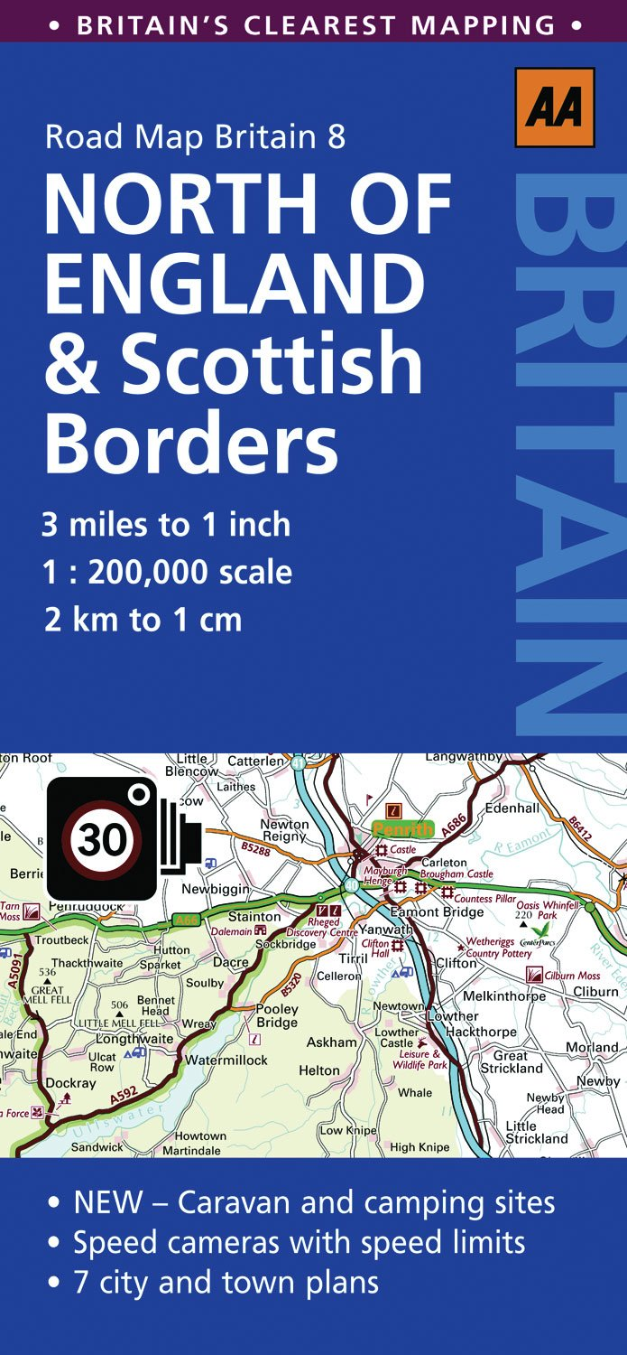 Road Map Britain 08 North of England & Scottish Borders 1 : 200 000 (Aa Road Map Britain Series)