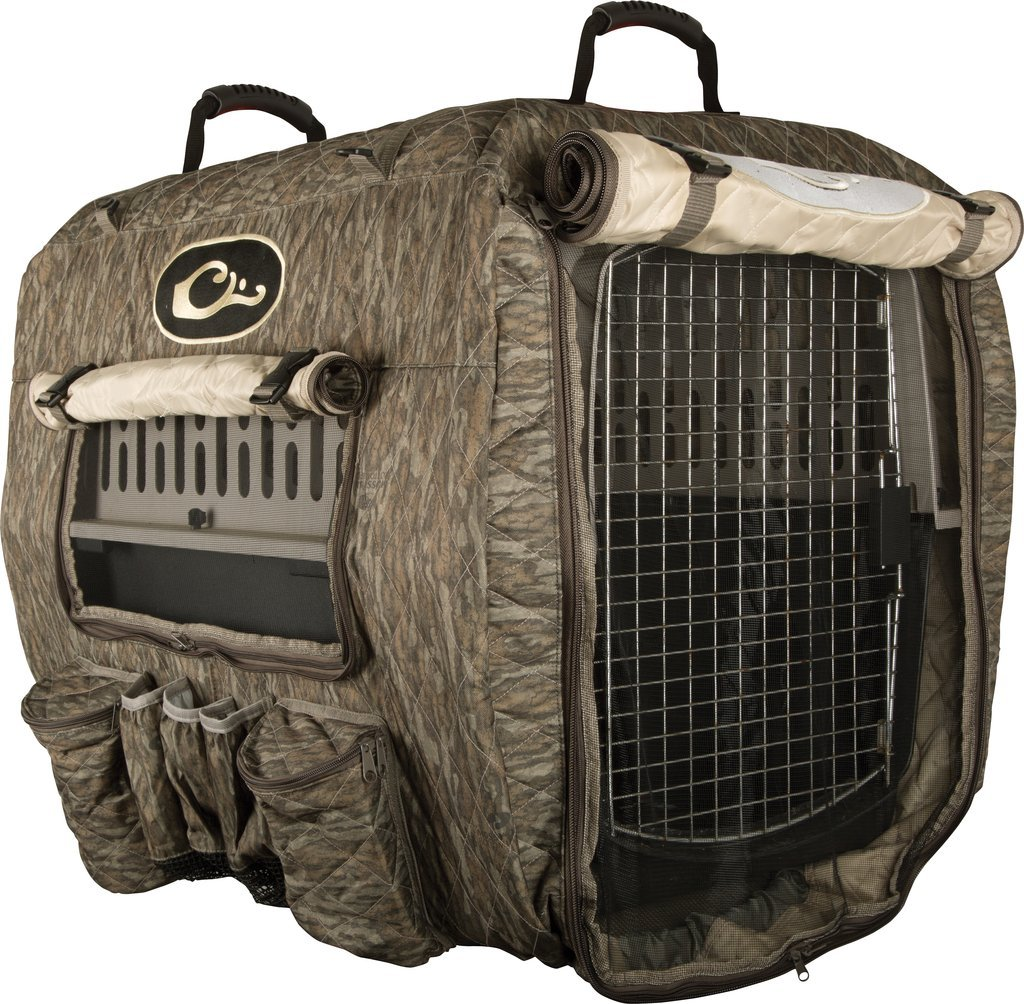 Drake Deluxe Adjustable Mossy Oak Bottomland Kennel Cover, OS
