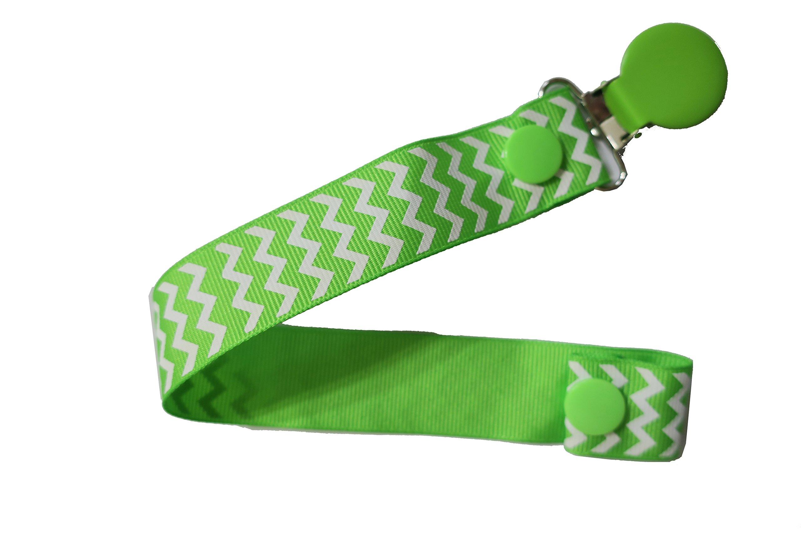 Pretty Paci Chevron Pacifier Clip, Green by Pretty Paci