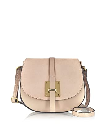 62394d486a6 LE PARMENTIER WOMEN S H115NUDE PINK LEATHER SHOULDER BAG  Amazon.co ...
