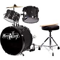 Music Alley Kit de 3 piezas de tambor secundaria para los niños con platillos de batería del pedal de heces y los…