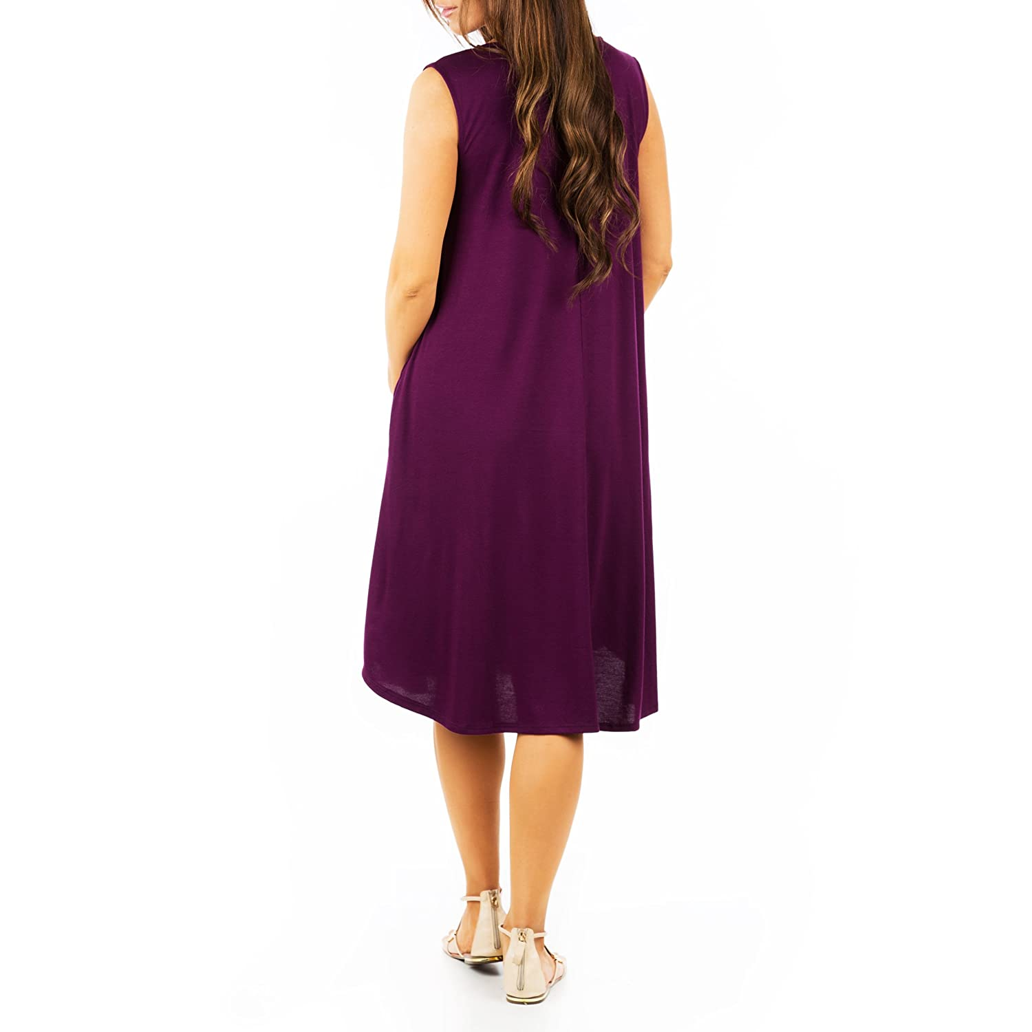 Mother Bee Womens Crew Neck Maternity Dress with Pockets by Zenna