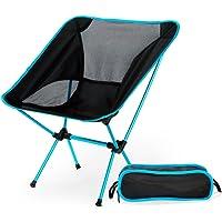 Silla de pesca portátil plegable al aire libre silla de playa ultraligera Moon Silla de playa plegable de aluminio silla taburete azul oscuro