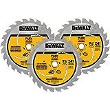 "DEWALT DWAFV37243 Flexvolt 24T Circular Saw Blade (3 Pack), 7-1/4"""